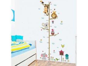 Pro děti do dětského pokoje- krásná samolepka metr se ZVÍŘÁTKY