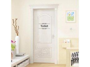 Dekorativní samolepka Toaleta 28x15cm