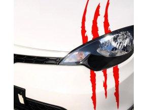 Dekorační samolepka Drápy na auto- ve více barvách