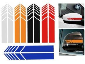 Dekorační samolepka na zpětná zrcátka na auto- více barev