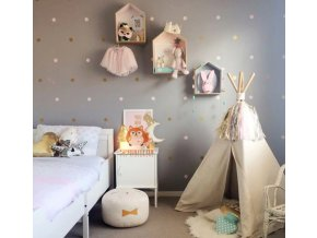 Dětský pokoj- Dekorační kulaté samolepky 4x4 cm- ve více barvách