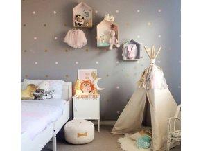 Dětský pokoj- Dekorační kulaté samolepky 7x7 cm- ve více barvách