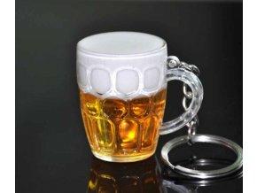 Přívěsek klíčenka pro milovníky piva- vhodné i jako dárek