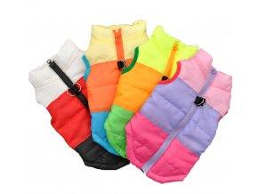 Teplý obleček na zip pro malé psy- více barev