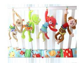 Pro děti- Závěsná hračka na postýlku Žába, Pes, Kočka, Opice