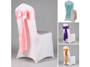 Dekorace- Slavnostní saténová stuha, mašle na židle
