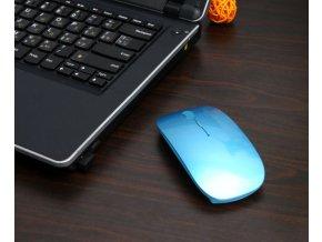Počítačová bezdrátová slim myš- více barev