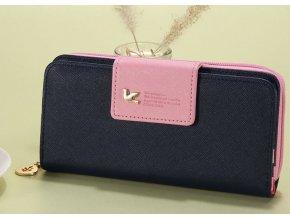 Dámská luxusní peněženka modrá