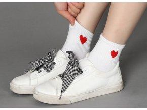 Dámské ponožky se srdíčkem- 3 barvy