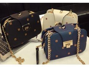 Dámská mini kabelka s řetízkovým popruhem- 3 barvy