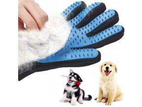 Masážní rukavice pro vyčesávání srsti psů a koček- na levou ruku