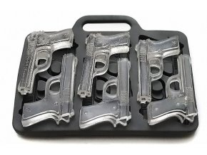Silikonová forma na led ve tvaru Pistole