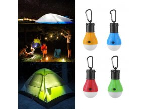 LED osvětlení, žárovka do stanu, do přírody- více barev