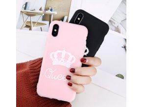 Kryt Queen na iPhone- růžová, fialová
