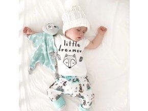 Dětské oblečení- dětský set, tričko, kalhoty Liška