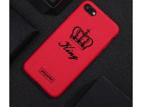 Červený kryt KING na iPhone