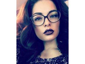 Nedioptrické brýle černé s růžovými nožickami