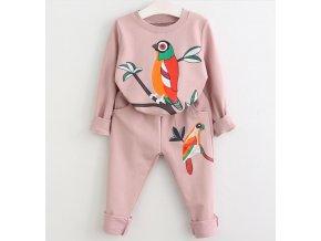 Dětské oblečení- dívčí tepláková souprava Papoušek