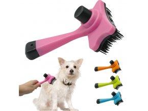 Hřeben, kartáč pro vyčesávání srsti psů a koček- 4 barvy