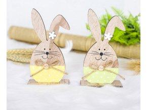 Velikonoční dekorace zajíc ve tvaru vejce- 2 barvy