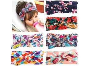 Dětská elastická čelenka s mašlí pro děti od 0-4 let- 4 barvy