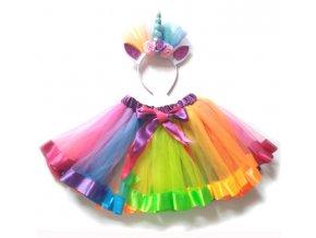 Dětský dívčí kostým JEDNOROŽEC na maškarní, párty- více barev