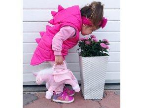 Pro děti- dětská dívčí vesta Dinosaurus