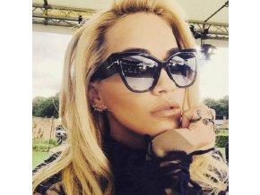 Luxusní sluneční brýle černé