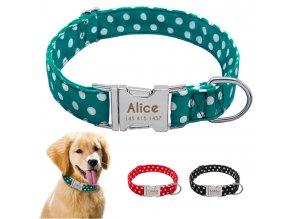 Psí obojek se jménem - Obojky pro malé, střední a velké psy včetně vyrytí jména a telefonu- 3 barvy