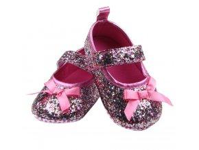 Dětské boty- dívčí capáčky pro nejmenší černé, růžové