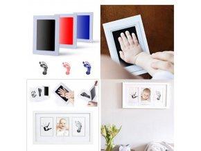 Podložka na památeční otisk ručičky nebo nožičky miminka- více barev