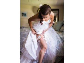 Svatba, svatební dekorace - svatební podvazky 2ks/set- více barev