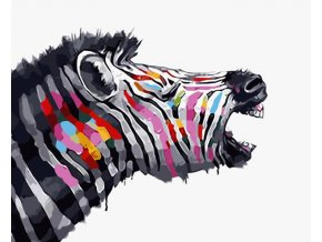Malování podle čísel na plátno pro dospělé - Zebra