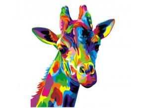 Malování podle čísel na plátno pro dospělé - Žirafa