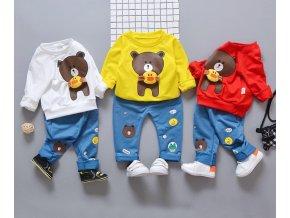 Dětské oblečení- dětský set, mikina, tepláky s medvídkem- ve třech barvách