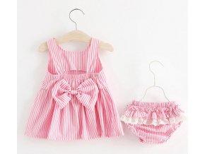 Dětské oblečení- dvoudílný dětský set, šaty, šortky, kalhotky- více barev