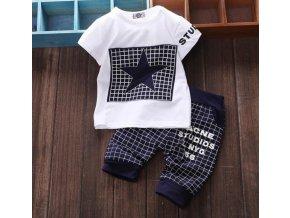Dětské oblečení- dvoudílný dětský set, tričko, tepláky- tři barvy
