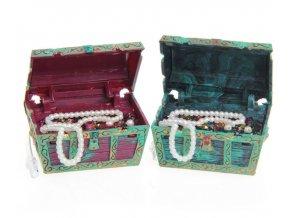 Akvarijní dekorace- truhla s pokladem- dvě barvy