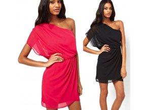 Dámské letní plážové šaty černé, růžové