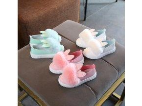Dětské boty- dívčí stylové boty s ušima- více barev