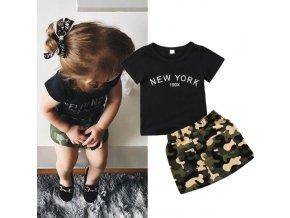 Dětské oblečení- letní set tričko a army sukně