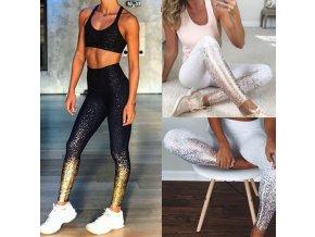 Sportovní oblečení- dámské třpytivé fitness legíny
