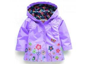 Dětské oblečení- jarní veselé nepromokavé bundy pro dívky- více barev