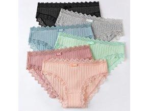 Komfortní kalhotky s krajkou- více barev