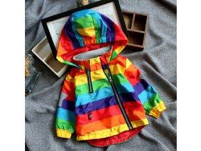Dětské oblečení- jarní nepromokavá bunda pro chlapce a dívky veselých barev
