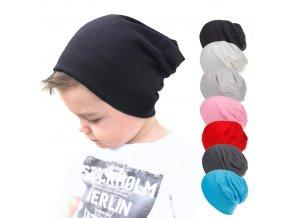 Dětská jarní, podzimní čepice- více barev