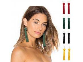 Módní dlouhé střapcové naušnice- více barev