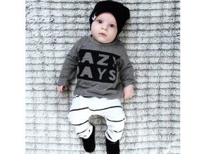 Novorozenecký set- tričko s dlouhým rukávem a tepláky Lazy Days