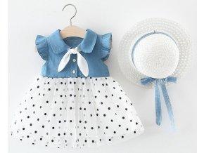 Dívčí letní šaty s kloboukem