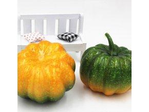 Podzimní dekorace- umělá zelená dýně na halloween
